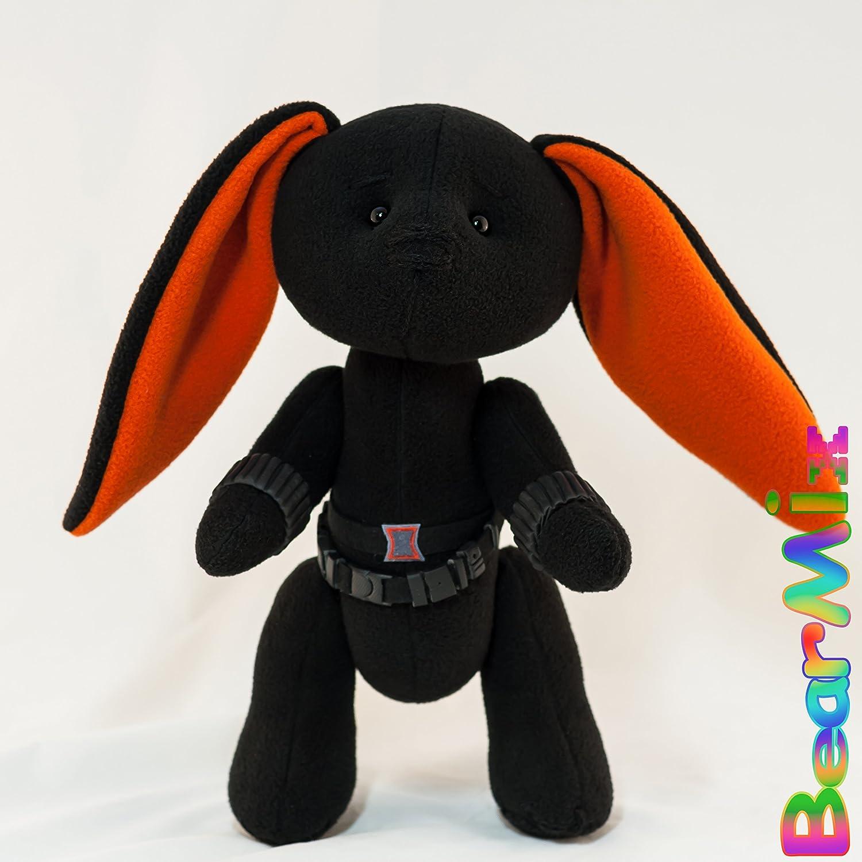 Black Widow bunny - marvel superhero movie comic plush toy avengers Natasha Romanova