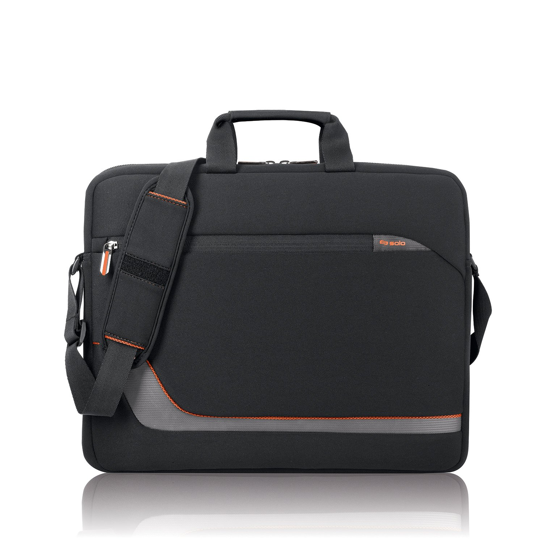 Solo Urban 17.3 Inch Laptop Slim Brief, Black