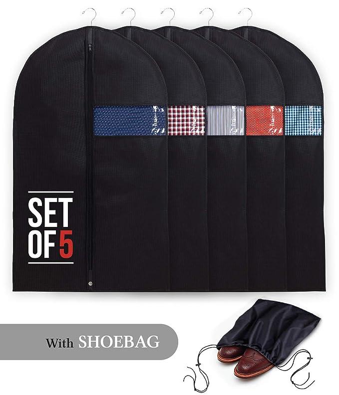Amazon.com: Bolsas de ropa con bolsa para zapatos, juego de ...