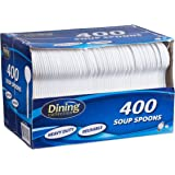 White Soup Spoons, 400 Count