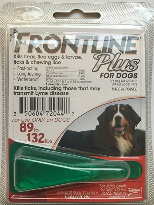 Amazon Frontline Plus Xl Dogs 89 132 Lbs 1 Month Application