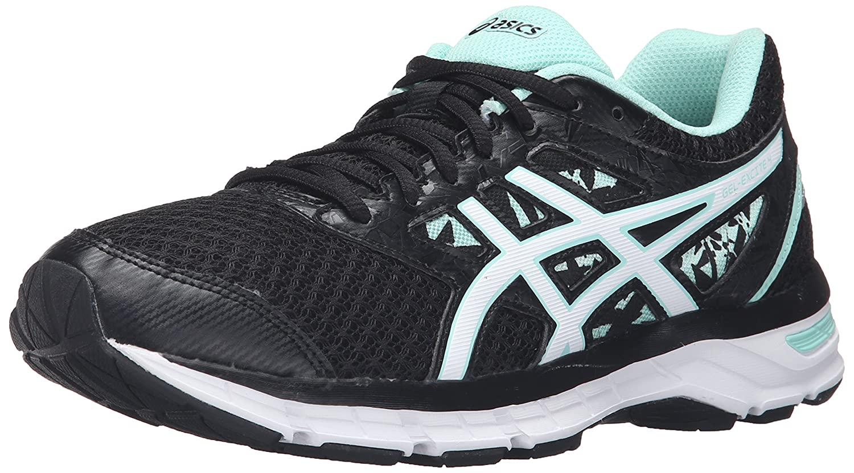 ASICS Women's Gel-Excite 4 Running Shoe B017USLAL2 7 B(M) US|Black/White/Mint