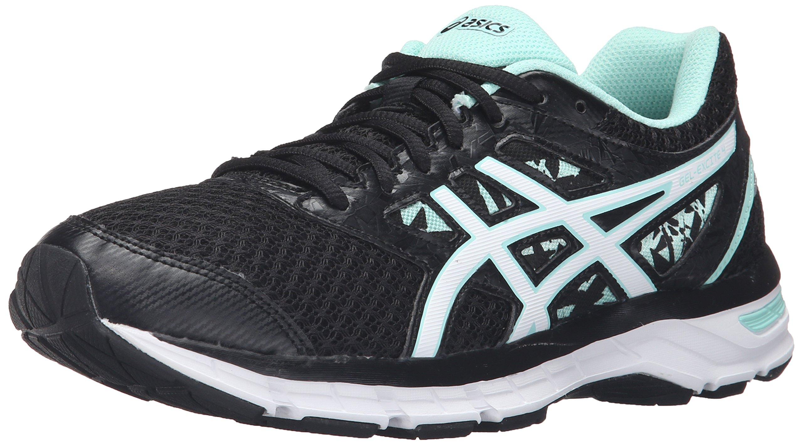 ASICS Women's Gel-Excite 4 Running Shoe, Black/White/Mint, 10 M US