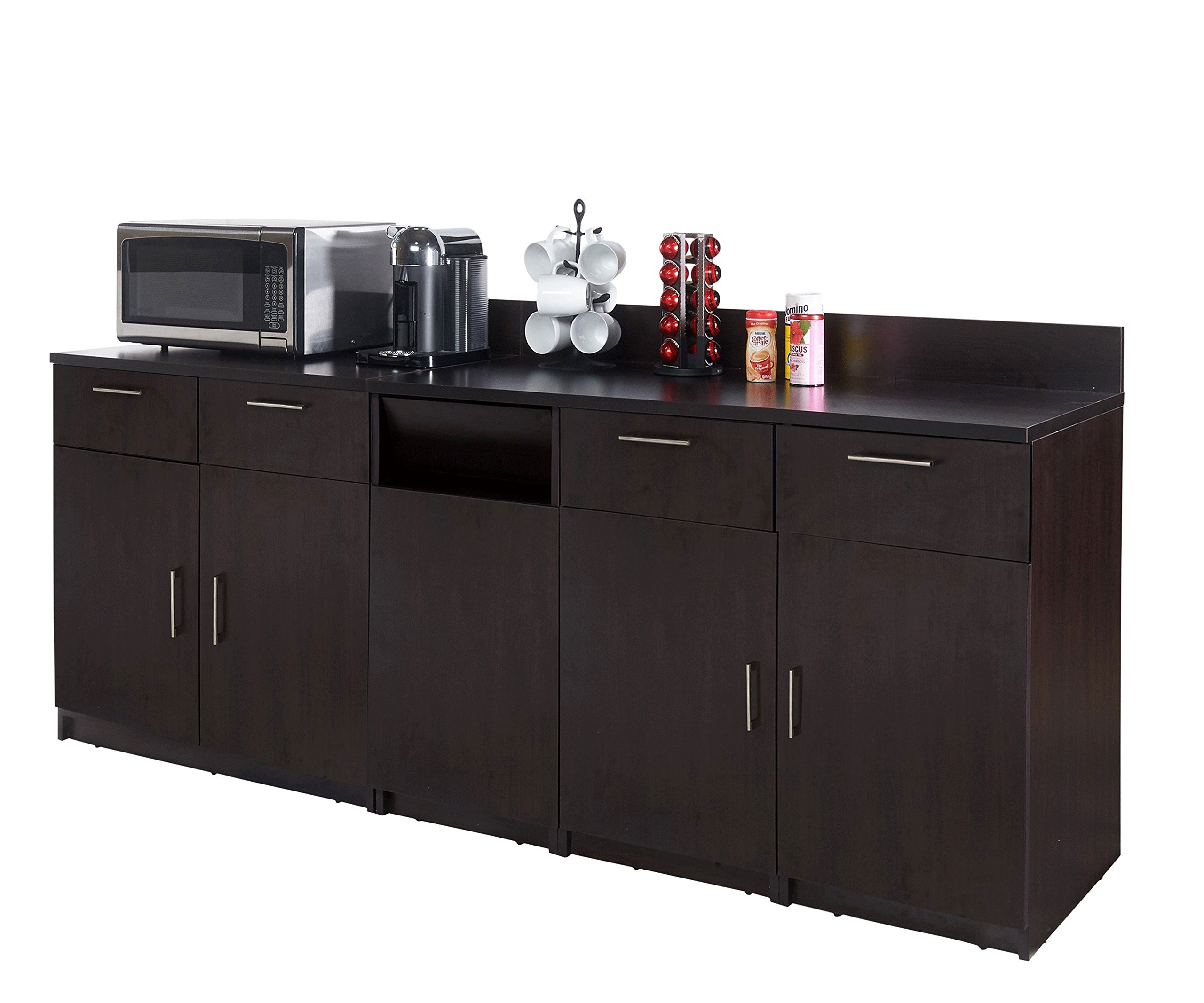 Coffee Break Lunch Room Furniture Fully Assembled''Ready-to-Use'' 3pc Group BREAKTIME Model 2724 - Elegant Espresso Color Instantly Create Your New Coffee Break Lunch Room!!!