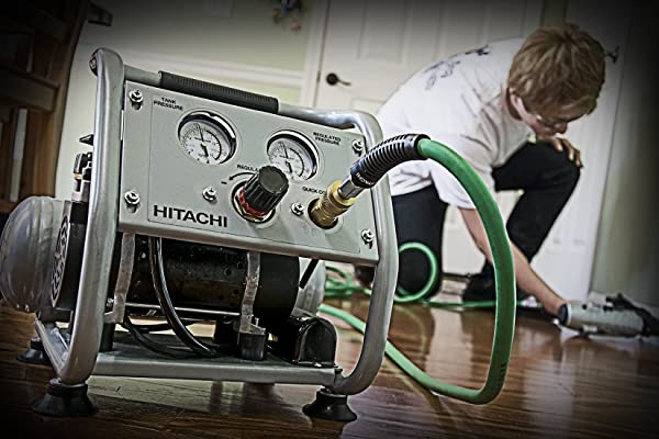 Hitachi EC28M is one of the best ultra quiet air compressor on the market