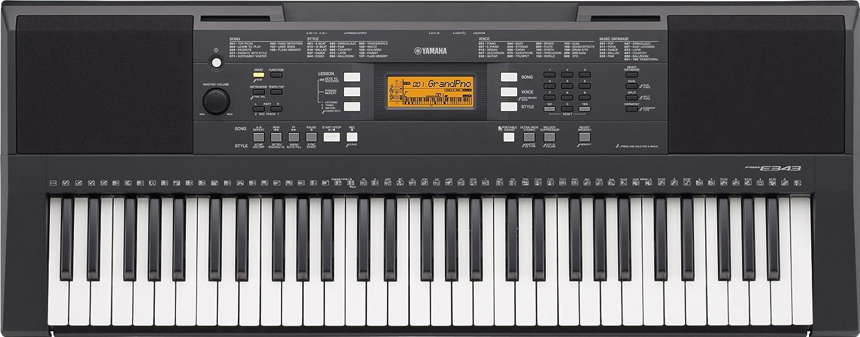 Yamaha PSR-E343 - Teclado portátil de 61 teclas con respuesta a la pulsación: Amazon.es: Instrumentos musicales