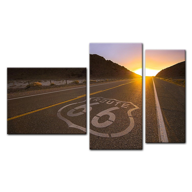 Kunstdruck - Historische Route 66 - - - USA - Bild auf Leinwand - 120x90 cm 1 teilig - Leinwandbilder - Bilder als Leinwanddruck - Landschaften - Amerika - USA - Highway 6bdd65