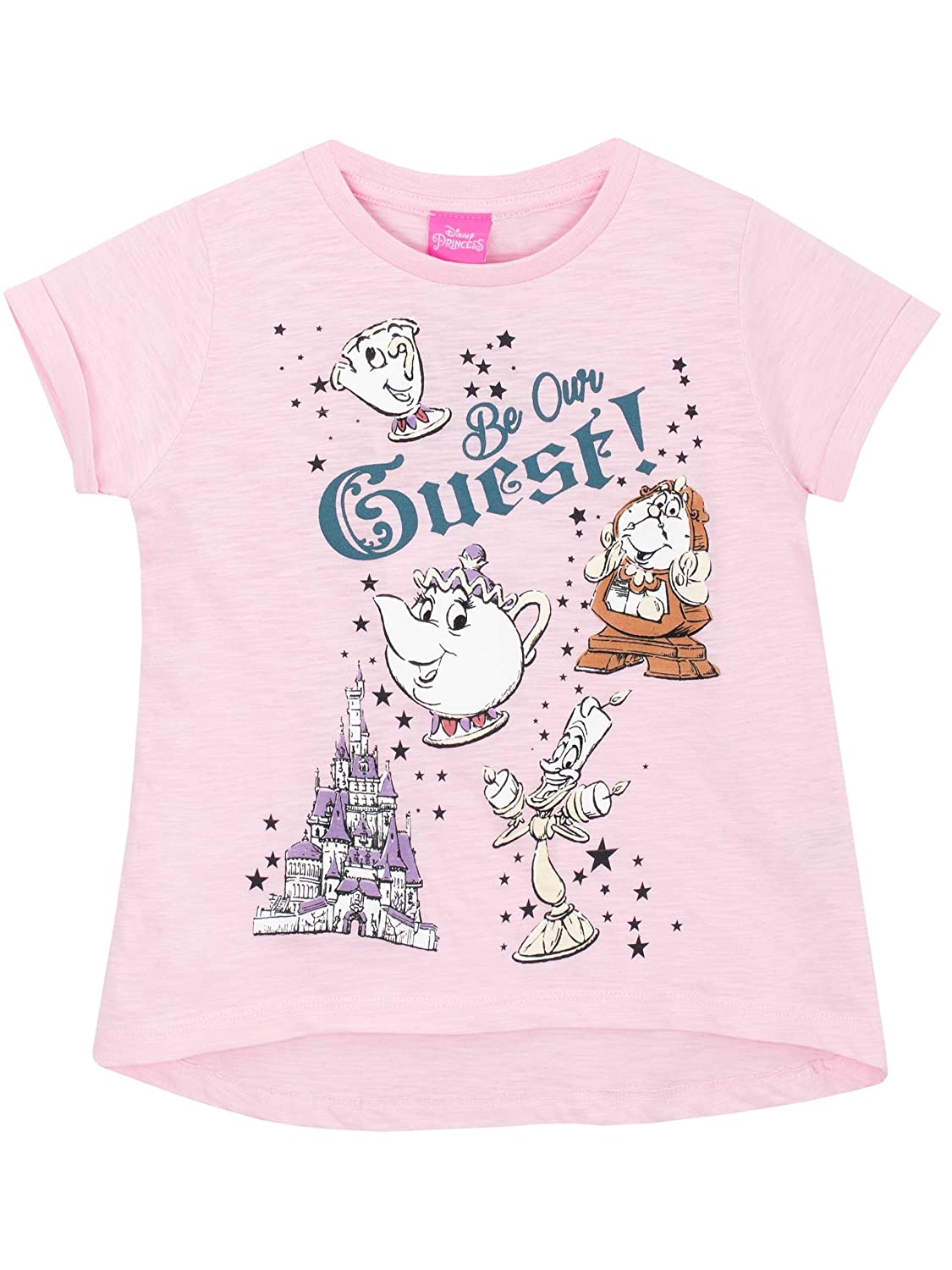 Disney Beauty & the Beast Girls Beauty and the Beast T-Shirt Ages 5 to 12 Years
