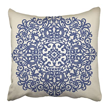 Amazon Emvency Decorative Throw Pillow Covers Cases Filigree Custom Decorator Throw Pillows