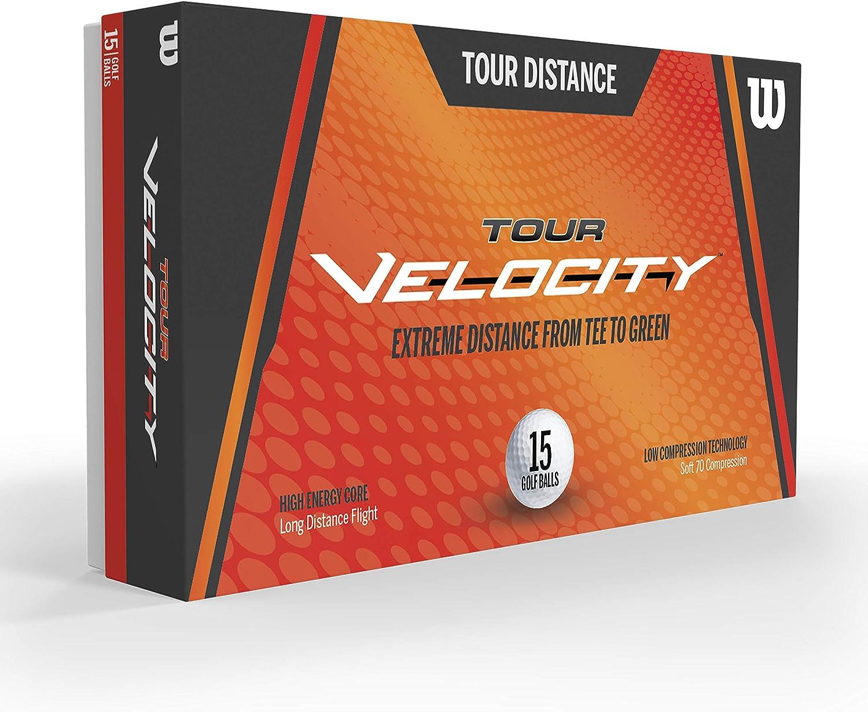 Wilson Sporting Goods Tour Velocity Distance 15-Ball Pack