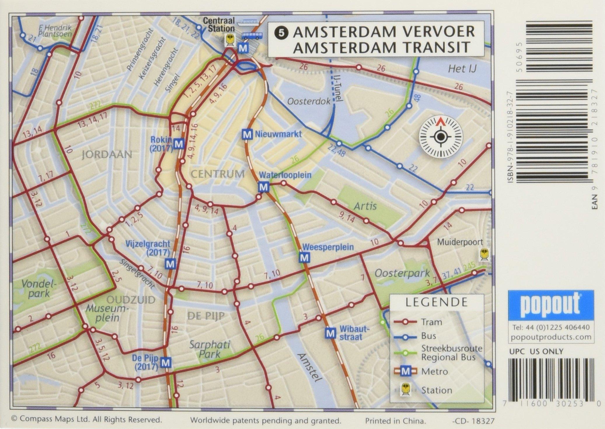 Popout Map Amsterdam (Popout Maps): Amazon.de: Compass Maps Ltd ...