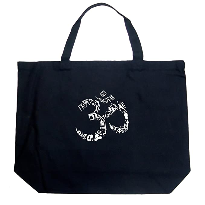 Amazon La Pop Art Word Art Large Tote Bag The Om Symbol Out
