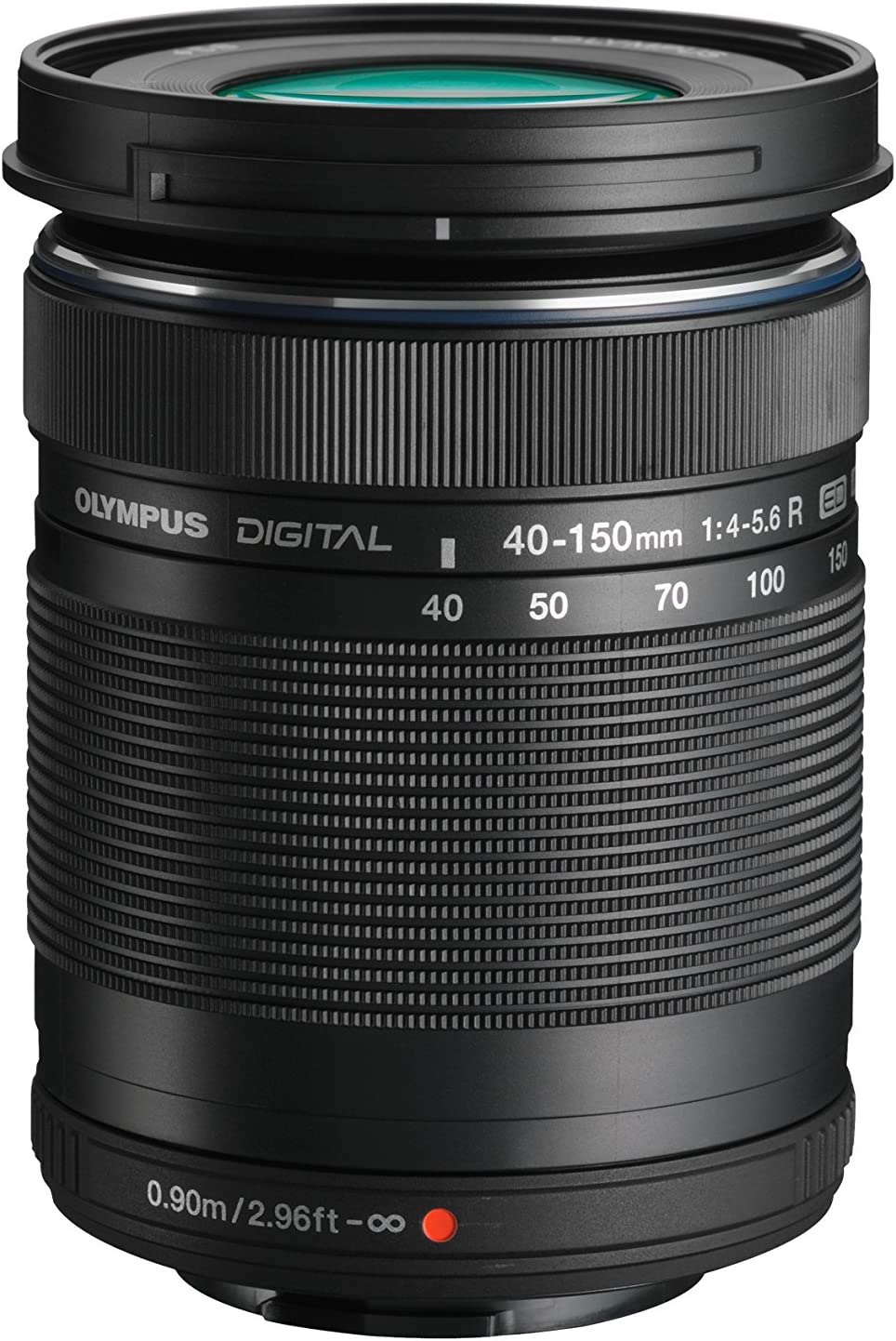 Olympus M.Zuiko Digital 40-150mm f/4.0-5.6 R - Objetivo para Micro Cuatro tercios (Apertura f/4, Zoom óptico 3.8X,diámetro: 58mm), Color Negro + Funda Adaptable OM-D
