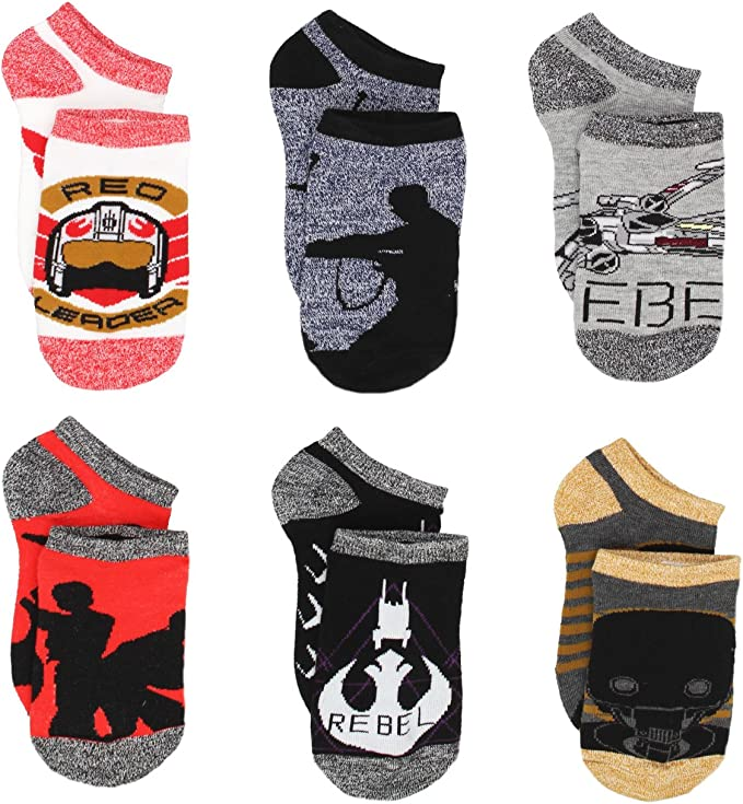 3 x Black//Grey Ankle Socks For Boys STAR WARS DISNEY