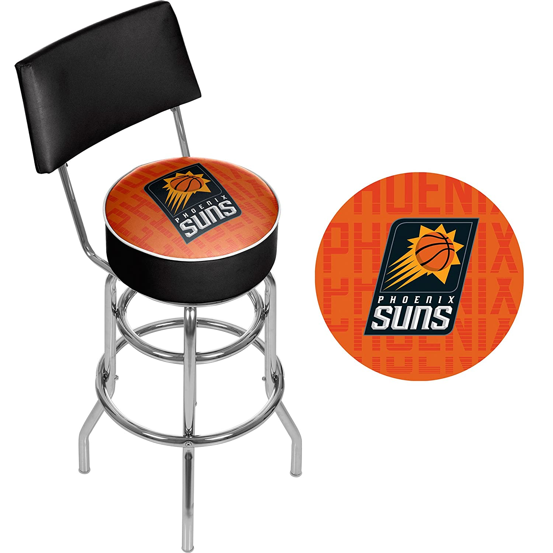 Pheonix Suns Trademark Gameroom NBA1100-PS3 NBA Swivel bar Stool with Back City