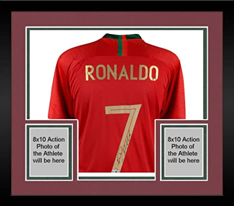6229dc981 Framed Cristiano Ronaldo Portugal Autographed 2018 Jersey - Fanatics  Authentic Certified - Autographed Soccer Jerseys at Amazon s Sports  Collectibles Store
