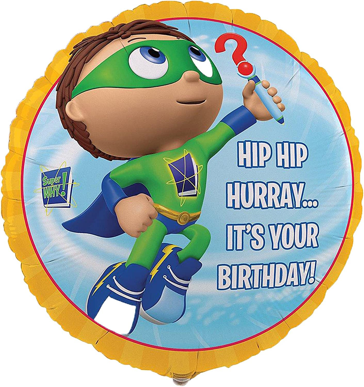 "Super Why! 18"" Foil Balloon"