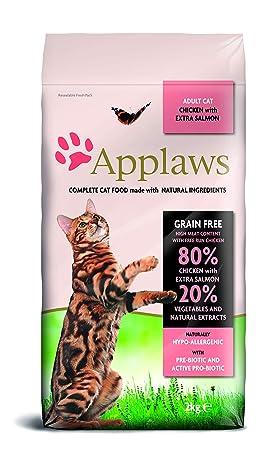 Applaws Comida seca para gatos, pollo y salmón/adulto, 2 kg