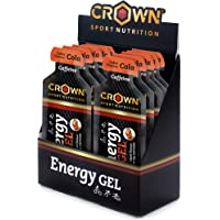 Crown Sport Nutrition 12 x Energy Gel + Cafeína (40g), Gel energético textura
