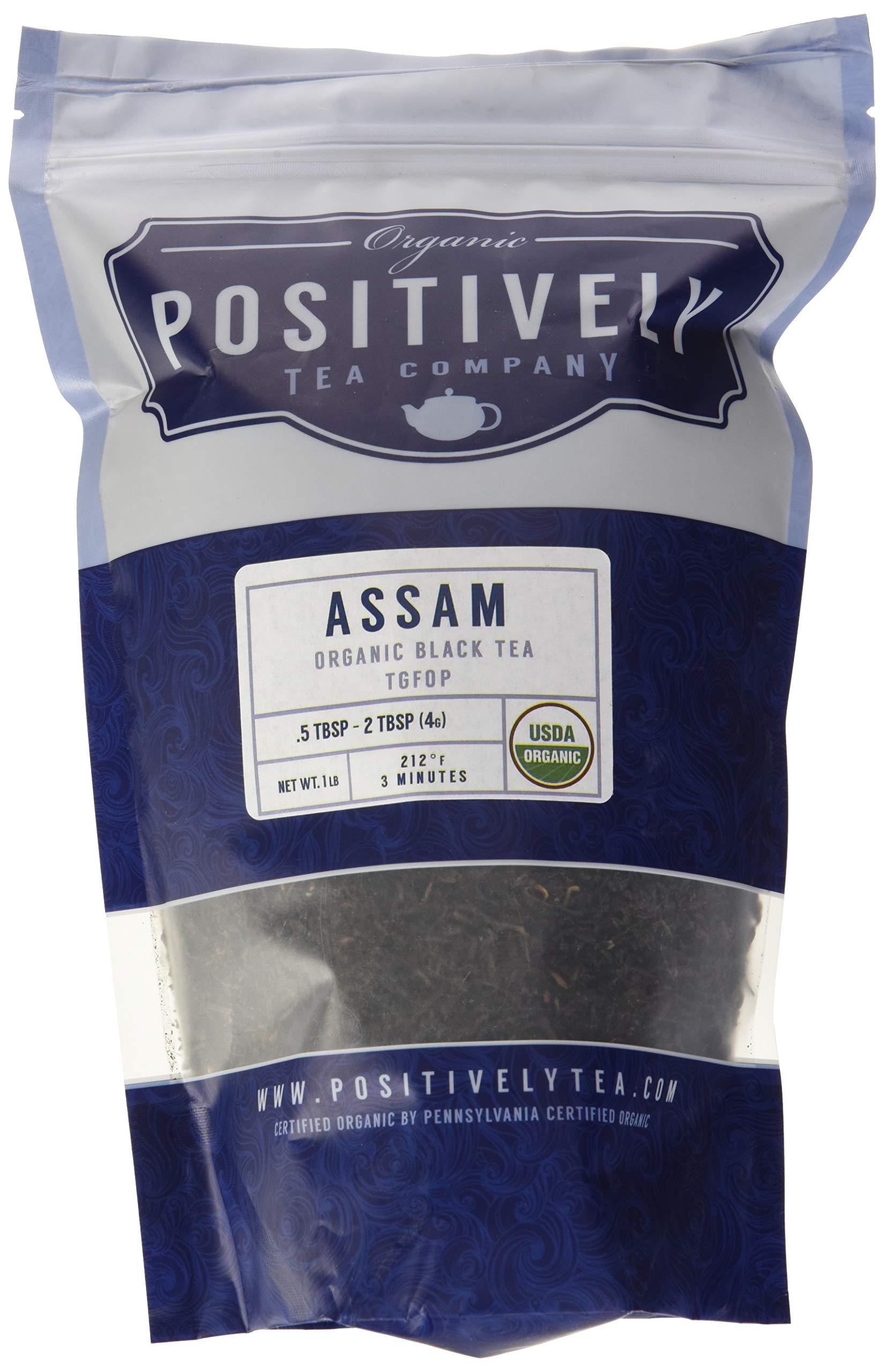 Positively Tea Company, Organic Assam TGFOP, Black Tea, Loose Leaf, USDA Organic, 1 Pound Bag