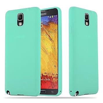Cadorabo Funda para Samsung Galaxy Note 3 en Candy Azul – Cubierta Proteccíon de Silicona TPU Delgada e Flexible con Antichoque – Gel Case Cover ...