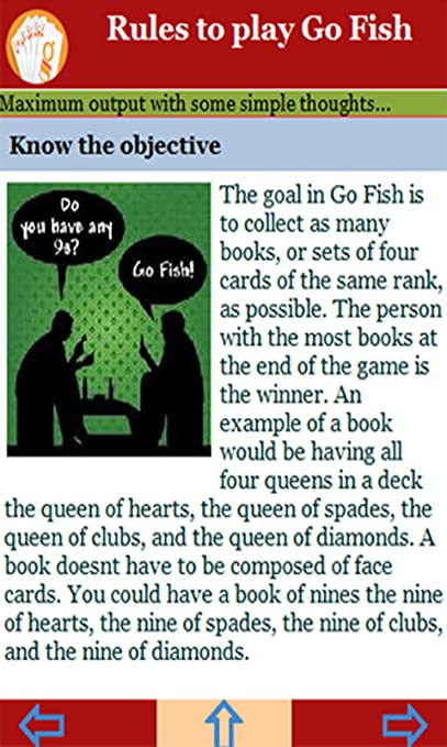 Amazon Com Rules To Play Go Fish Appstore For Android