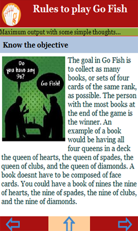 Rules to play go fish appstore for android for Play go fish