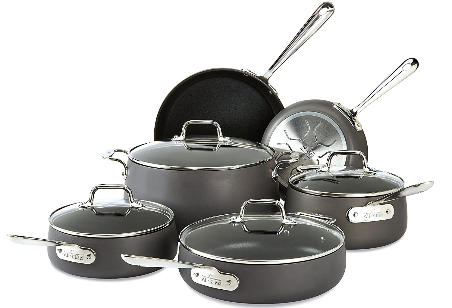 Amazon.com: All-Clad E785SC64 HA1 Hard Anodized Nonstick ...