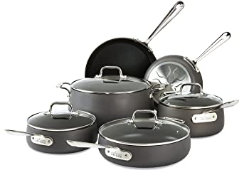All-Clad 10 Pcs Hard-Anodized Cookware Set