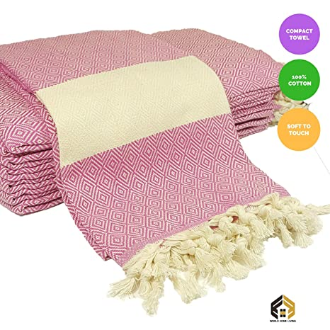 Calidad tamaño grande de lujo Turco Hammam Peshtemal toalla de baño de algodón playa UK VENDEDOR