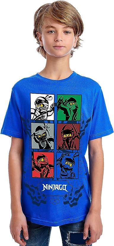 LEGO Boys' Round Neck Short Sleeve Lego Characters Graphic Design T-Shirt, Little Boys & Big Boys Tee