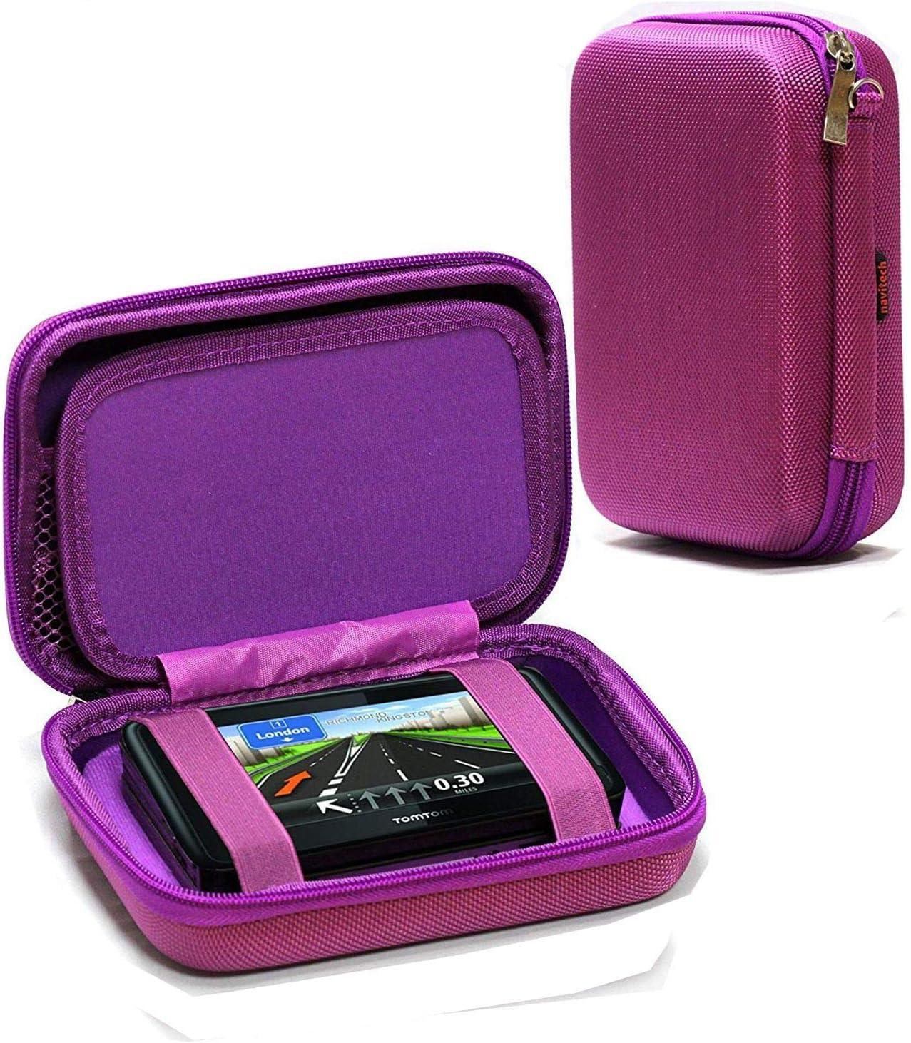 Navitech Purple Hard Carry Case Compatible With The TomTom Car Sat Nav Start 52 Lite,