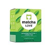 Matcha Love Premium Japanese Matcha + Green Tea Bags, (Pack of 10), 10 Count, 100...