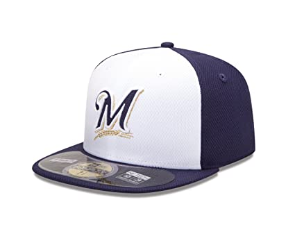 Diamond Era 59Fifty MLB Milwaukee Brewers Gorra de béisbol  Amazon ... 288cd919215