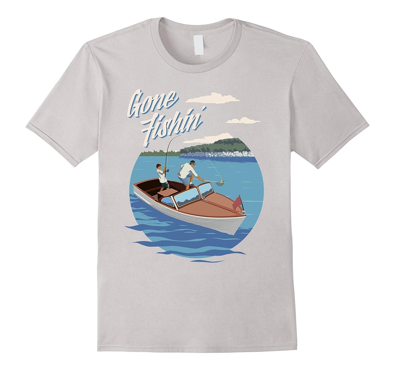 Vintage gone fishin tournament t shirt goatstee for Bass fishing tournament shirts