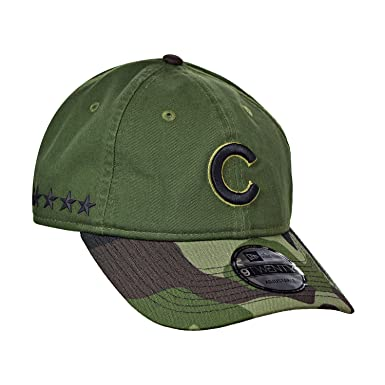 Chicago Cubs New Era 2017 Memorial Day 9TWENTY Adjustable Hat - Green Camo 0eace6dfbce