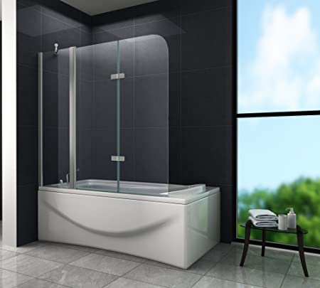 Glasdeals 3508 Triple - Mampara plegable para ducha (cristal, 6 mm, 150 x 140 cm): Amazon.es: Hogar