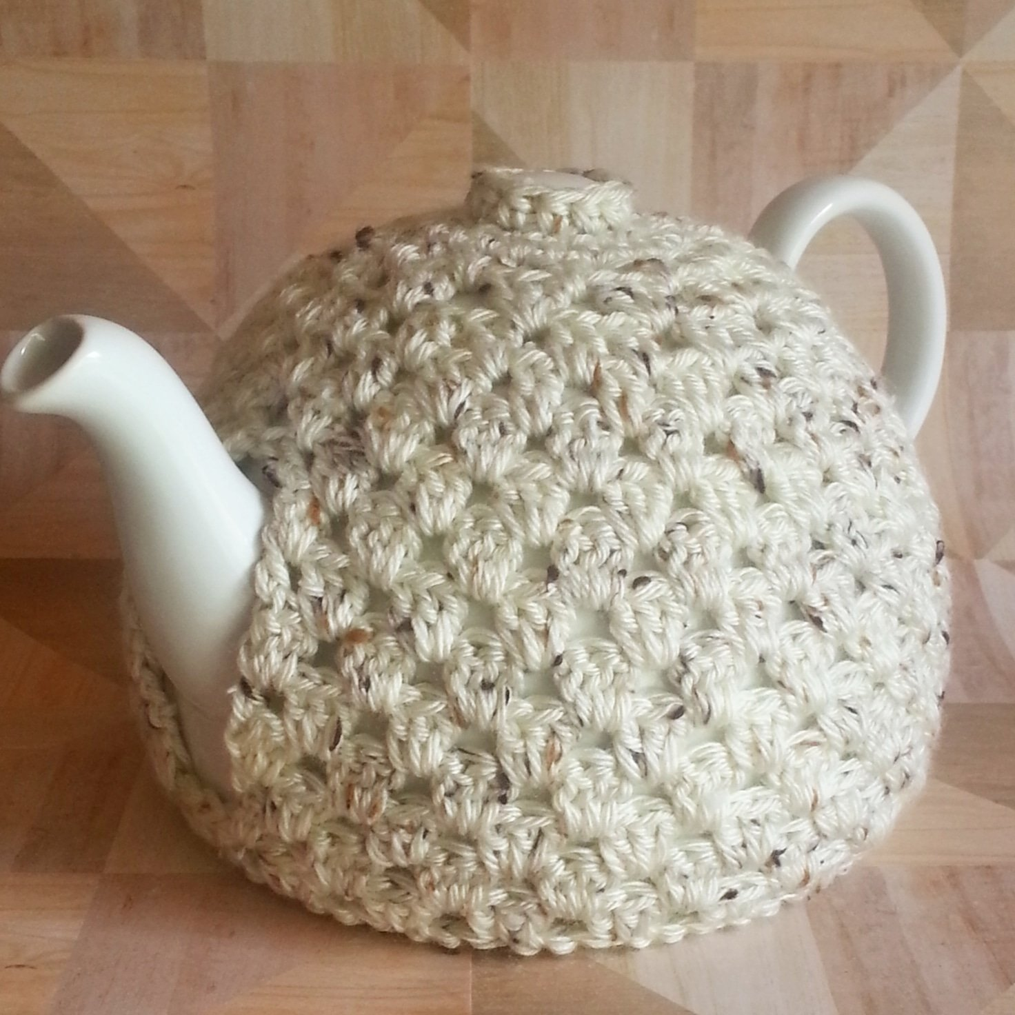 Teapot Cozy Decorative Cover Light Beige Fleck