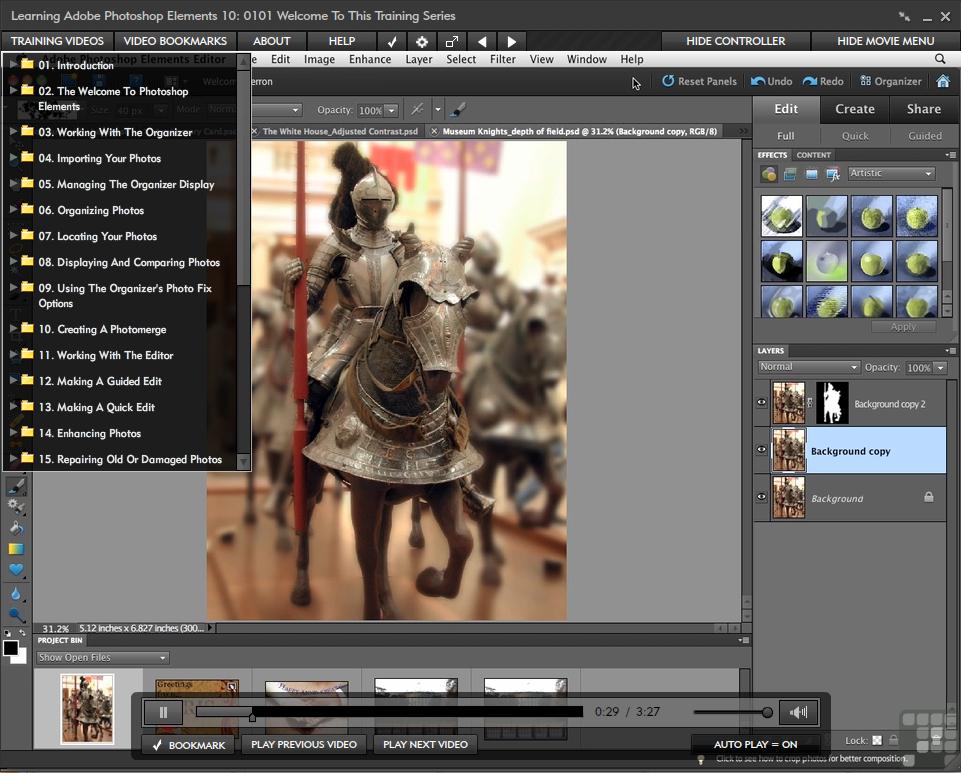 Adobe Photoshop Elements 10 for Windows and Mac [Online Code] by Infiniteskills