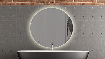 Spiegelking bern specchio rotondo con led illuminazione bagno