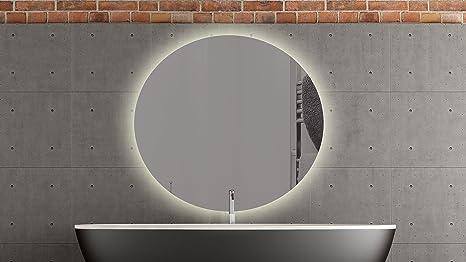 Bern specchio rotondo con led illuminazione bagno specchio 60 cm