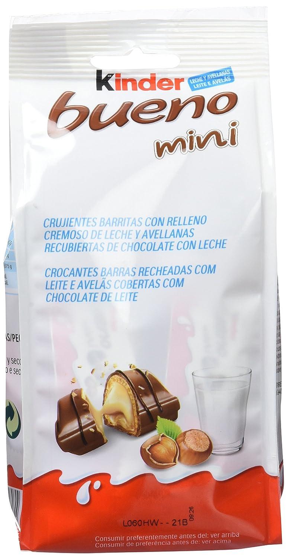Kinder Bueno Mini Barritas con Relleno de Leche y Avellanas, Recubiertas de Chocolate - 20 Unidades: Amazon.es: Amazon Pantry