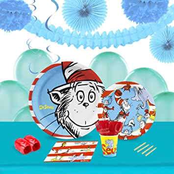 Dr Seuss Childrens Birthday Party Supplies - Tableware and Decoration Pack (16)  sc 1 st  Amazon.com & Amazon.com: Dr Seuss Childrens Birthday Party Supplies - Tableware ...