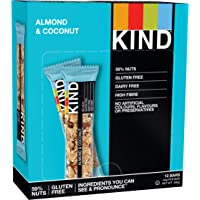 KIND Almond & Coconut - Whole Nut Bar - Low sugar Snack - 12x 40g bar