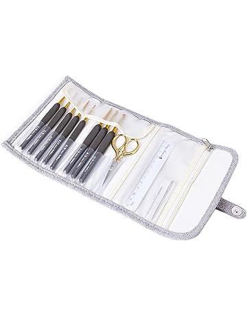 Herramientas de costura agujas de coser de ojos grandes agujas de enhebrado autom/ático pasadores de costura de hilo para personas ciegas y de edad avanzada paquete de 12 piezas tama/ños surtidos