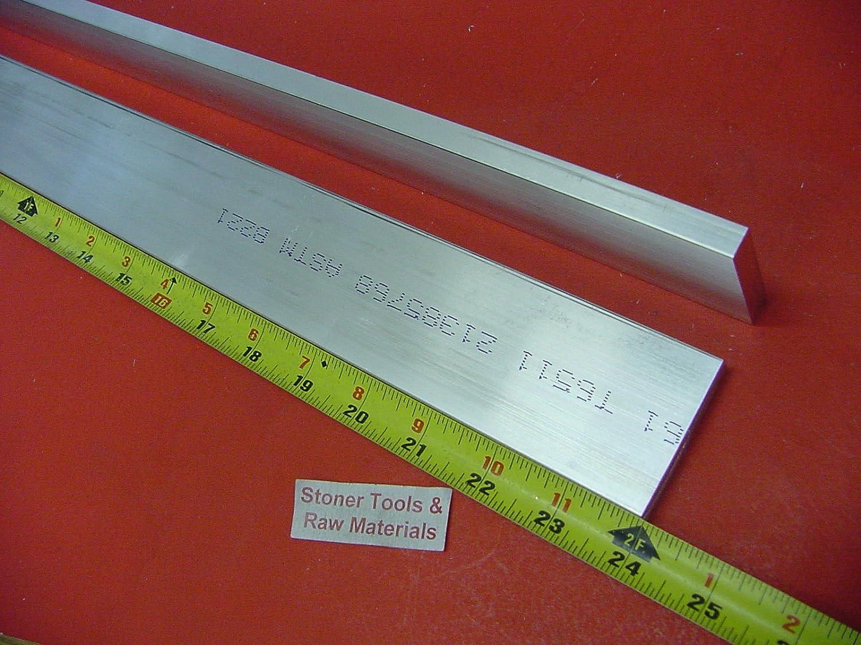 """2 Pieces 1//2/"""" X 1-1//4/"""" ALUMINUM 6061 FLAT BAR 10/"""" long Extruded Mill Stock"""