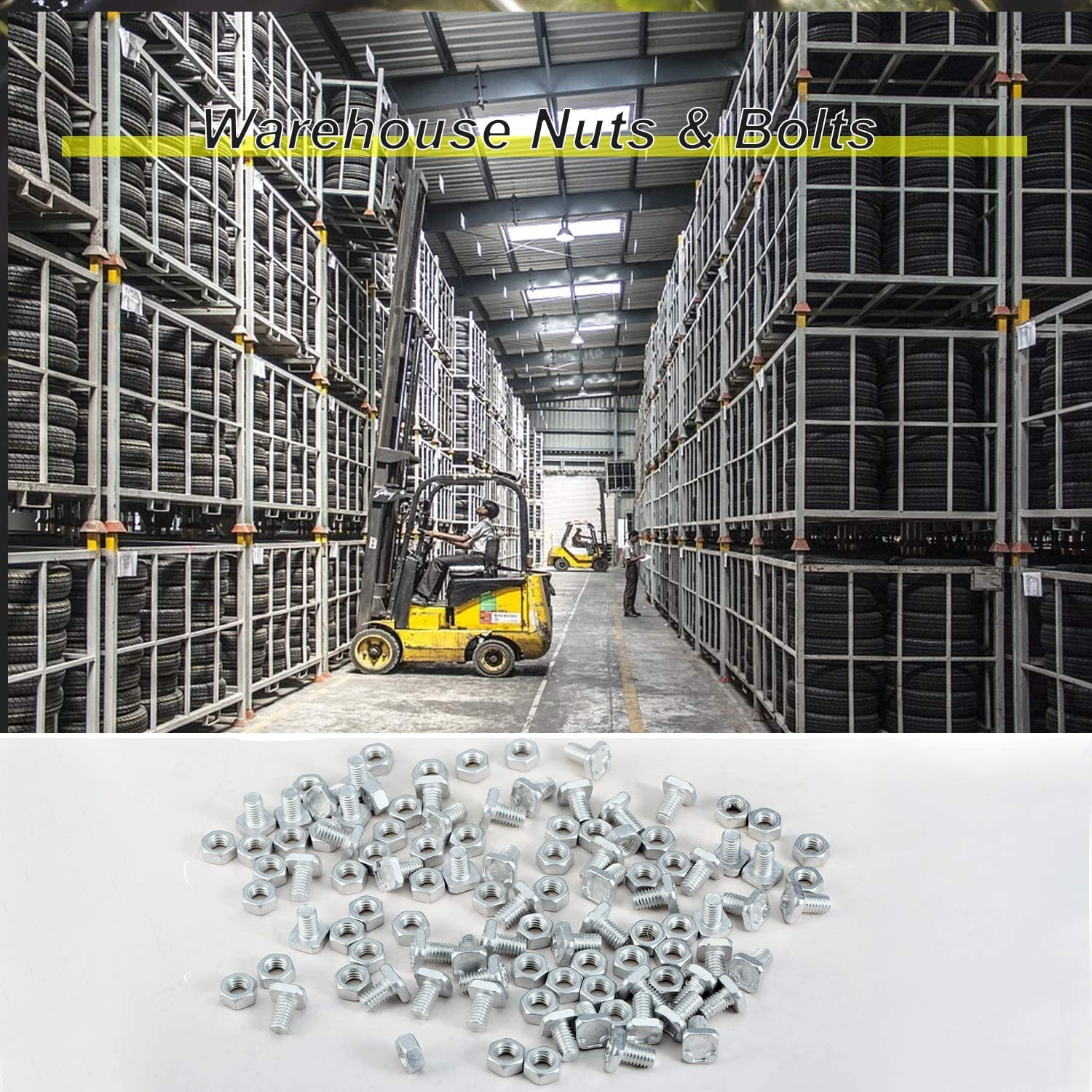 Goliraya 50Pairs Greenhouse M6 Nuts /& Bolts Standard Size Replacements Aluminum Warehouse Parts Nuts /& Bolts Accessories