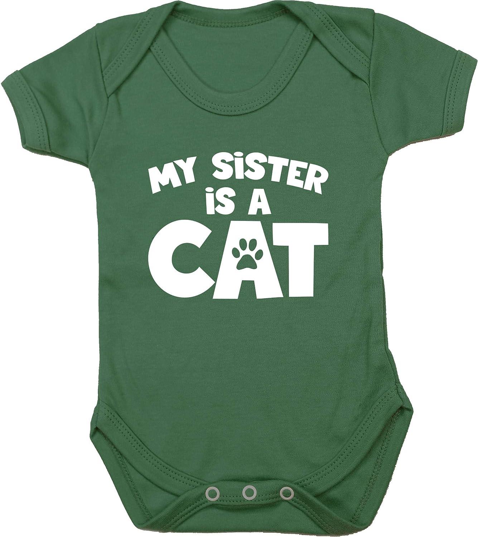 Hippowarehouse My Sister is a cat Baby Vest Bodysuit Short Sleeve Boys Girls