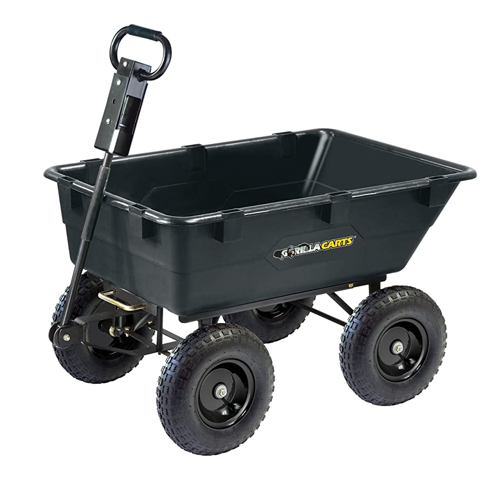 Best Wheelbarrow - Gorilla Carts GOR866D Heavy-Duty Garden Poly Dump Cart