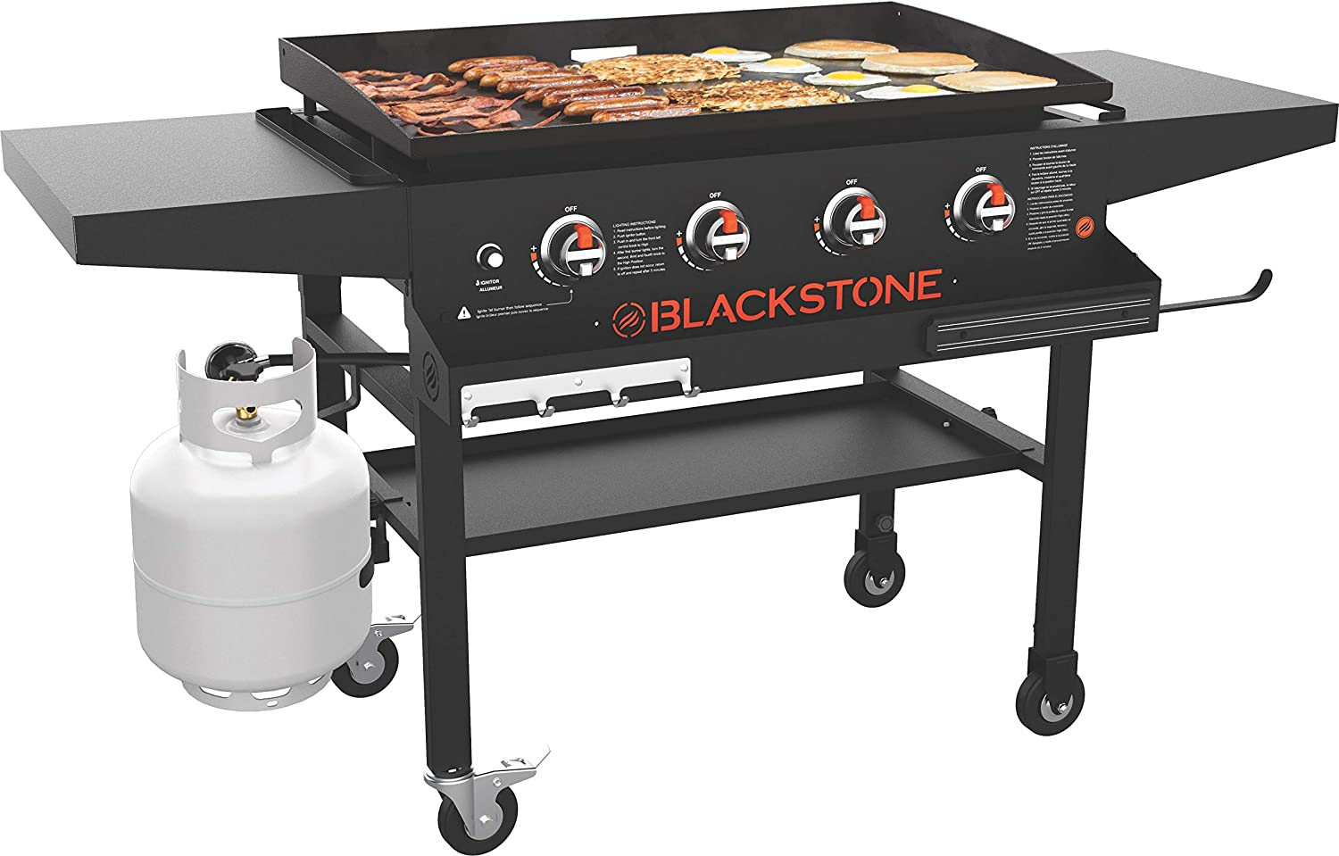 Outdoor Black Blackstone 1984 Front Shelf 36 Inches Tailgating Camping Side Shelf /& Magnetic Strip Heavy Duty Flat Top Griddle Grill Station for Kitchen